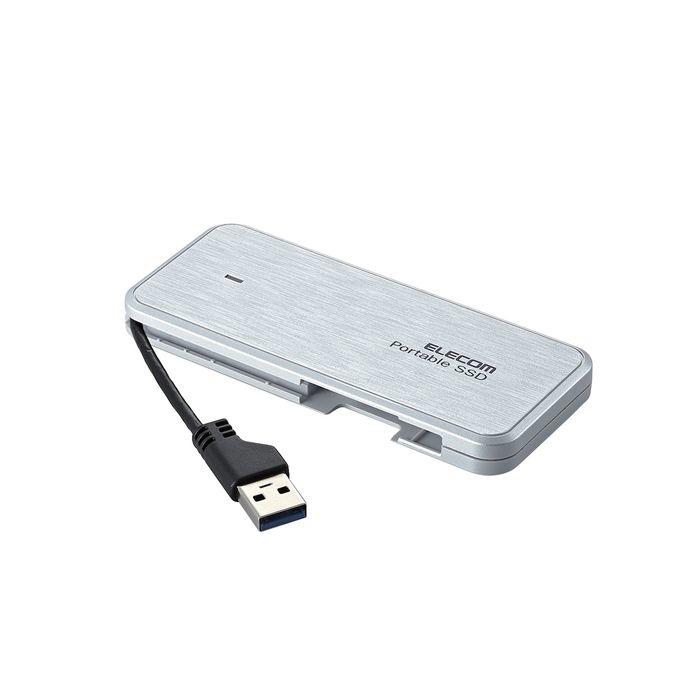 エレコム 外付けSSD ポータブル 240GB USB3.2 薄型 軽量 ホワイト ESD-EC0240GWHR