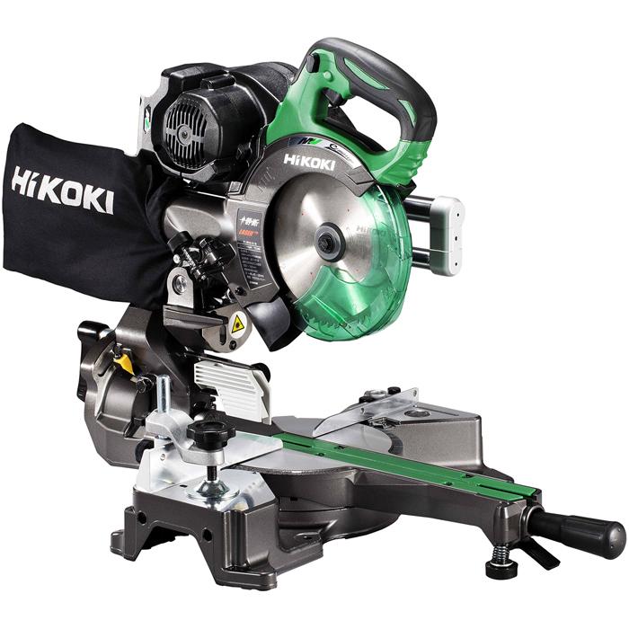 HiKOKI(日立工機) 【36V】【MULTI VOLT(マルチボルトシリーズ)】【蓄電池・充電器別売り】コードレス卓上スライド丸のこ(チップソー付属) C3606DRB(NN)