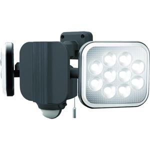 その他 ムサシ ダンケ 12W×2灯フリーアーム式LEDセンサーライト E40224 1台 ds-2294296