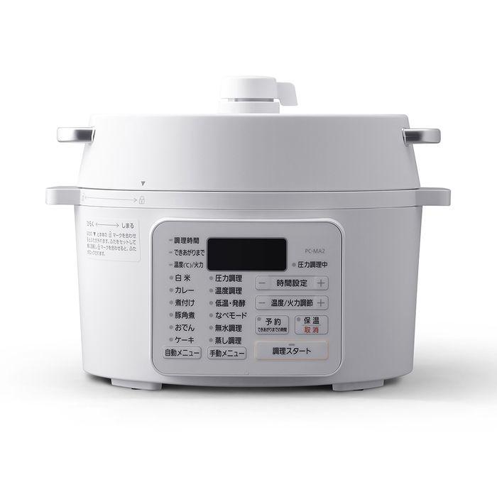 アイリスオーヤマ 電気圧力鍋 2.2L PC-MA2-W M-9749【納期目安:1週間】