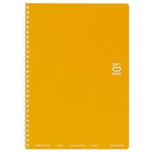 その他 (まとめ)コクヨ ソフトリングノート(ドット入り罫線)セミB5 B罫 40枚 オレンジ ス-SV301BT-YR 1セット(5冊)【×5セット】 ds-2296809