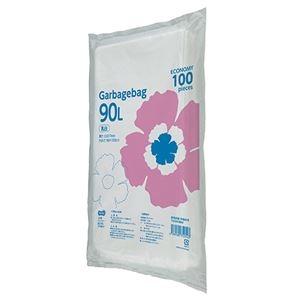 その他 (まとめ)TANOSEE ゴミ袋エコノミー乳白半透明 90L 1パック(100枚)【×5セット】 ds-2298293
