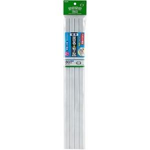 その他 (まとめ)ELPA 足せるモール 壁用1号45cm テープ付 ホワイト PSM-N145P4(W)1パック(4本)【×10セット】 ds-2299460