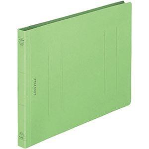 その他 (まとめ)ライオン事務器 フラットファイル(環境)樹脂押え具 B5ヨコ 150枚収容 背幅18mm 緑 A-529KB5E 1冊【×100セット】 ds-2303393