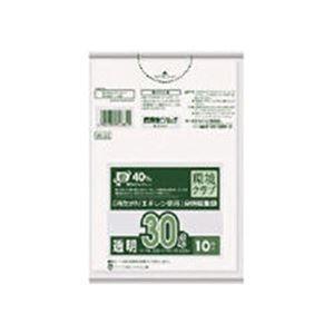 その他 (まとめ)日本サニパックW-33環境クラブ30L透明 W-33-CL 1パック(10枚)【×50セット】 ds-2303451