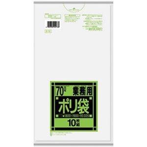 その他 (まとめ)日本サニパック 業務用ポリ袋 強化半透明 70L K-73 1パック(10枚)【×50セット】 ds-2303470