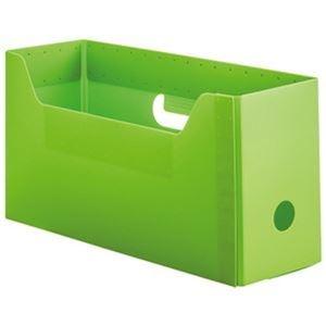 その他 (まとめ)TANOSEE PP製ボックスファイル(組み立て式)A4ヨコ ショートサイズ グリーン 1個【×50セット】 ds-2304450