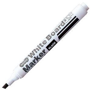 その他 (まとめ)TANOSEE ホワイトボードマーカー中字 角芯 黒 1セット(12本)【×20セット】 ds-2304631