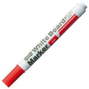 その他 (まとめ)TANOSEE ホワイトボードマーカー中字 角芯 赤 1セット(12本)【×20セット】 ds-2304640
