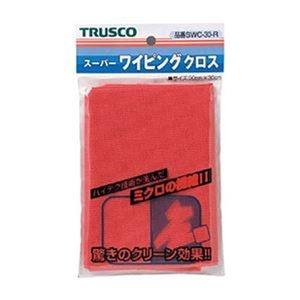 その他 (まとめ)TRUSCO スーパーワイピングクロス300×300mm 赤 SWC-30-R 1枚【×20セット】 ds-2304801