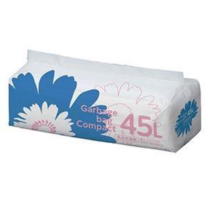 その他 (まとめ)TANOSEE ゴミ袋 コンパクト乳白半透明 45L 1パック(50枚)【×20セット】 ds-2305035