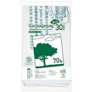 送料無料 その他 売れ筋ランキング まとめ TANOSEE リサイクルポリ袋 エコデザイン 乳白半透明 30枚 ds-2305076 1パック マーケット ×20セット 70L