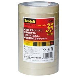 その他 (まとめ)3M スコッチ 透明粘着テープ15mm×35m 500-3-1535-10P 1パック(10巻)【×20セット】 ds-2305081