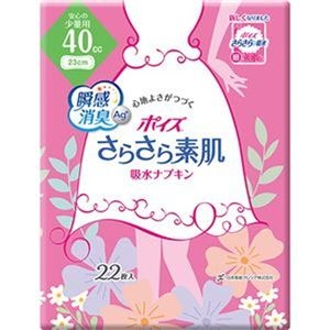 その他 (まとめ)日本製紙 クレシア ポイズ さらさら素肌吸水ナプキン 安心の少量用 1パック(22枚)【×20セット】 ds-2305653