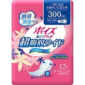 その他 (まとめ)日本製紙 クレシア ポイズ 肌ケアパッド超吸収ワイド 一気に出る多量モレに安心用 1パック(12枚)【×20セット】 ds-2305673