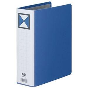 その他 (まとめ)TANOSEE 両開きパイプ式ファイルA5タテ 500枚収容 50mmとじ 背幅66mm 青 1冊【×20セット】 ds-2306301