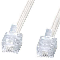 その他 (まとめ)サンワサプライ エコロジー電話ケーブル6極4芯 ホワイト 3m TEL-E4-3N2 1本【×20セット】 ds-2306417