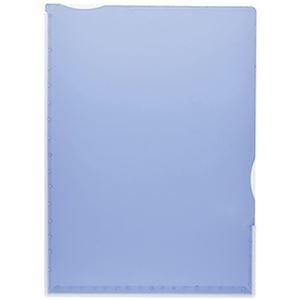 その他 (まとめ)TANOSEE 超丈夫なマチ付クリアホルダー タフレル A4タテ ブルー 1パック(5枚)【×20セット】 ds-2306665