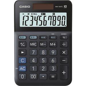 その他 (まとめ)カシオ W税率電卓 10桁ミニジャストタイプ ブラック MW-100TC-BK-N 1台【×10セット】 ds-2306994
