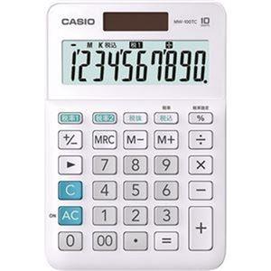 その他 (まとめ)カシオ W税率電卓 10桁ミニジャストタイプ ホワイト MW-100TC-WE-N 1台【×10セット】 ds-2306995