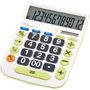 その他 (まとめ)ナカバヤシ 電卓デスクトップ大型キータイプ L 12桁 ECD-8503G 1台【×10セット】 ds-2306996