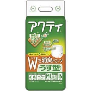 その他 (まとめ)日本製紙 クレシア アクティWで消臭パンツ うす型タイプ M-L 1パック(16枚)【×10セット】 ds-2307076