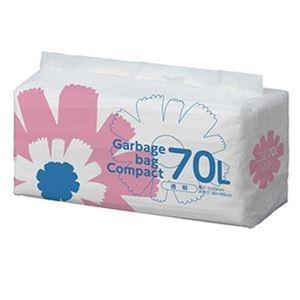 その他 (まとめ)TANOSEE ゴミ袋 コンパクト 透明70L 1パック(50枚)【×10セット】 ds-2307507