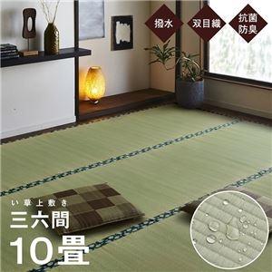 その他 純国産 い草 上敷き はっ水 カーペット 双目織 三六間10畳(約455×364cm) ds-2319496