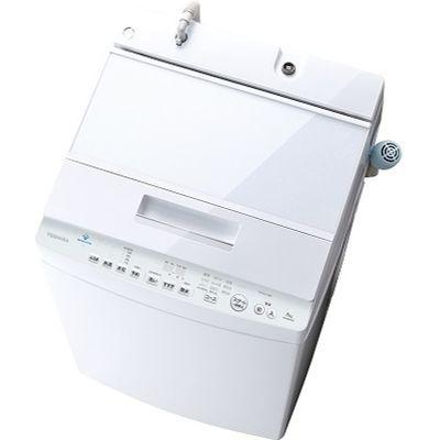 東芝 パナソニック (W) 全自動洗濯機 ZABOON (洗濯8kg) グランホワイト AW-8D9-W