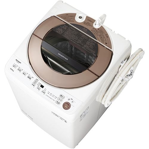 シャープ 全自動洗濯機 (洗濯10kg) ブラウン系 ES-GV10E-T