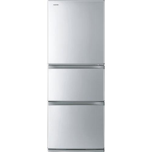 東芝 (S) 3ドア冷凍冷蔵庫 (330L・右開き) VEGETA(ベジータ) Sシリーズ シルバー GR-S33S-S