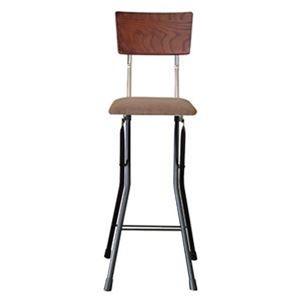 その他 折りたたみ椅子 【1脚販売 ダークブラウン×ブラック×ブラック】 幅37cm 日本製 スチールパイプ ds-2320794