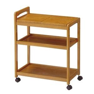 その他 木製キッチンワゴン ブラウン 組立品【代引不可】 ds-2319890