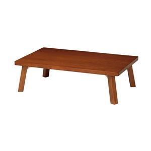 その他 テーブル(折脚) ブラウン 【幅1200mm】 完成品【代引不可】 ds-2320162