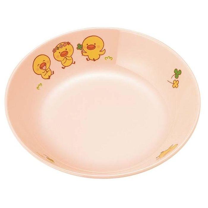 国際化工 【20個セット】メラミン 子供食器 ひよこぐみ 深菜皿 ピンク D17HIP EBM-3767100