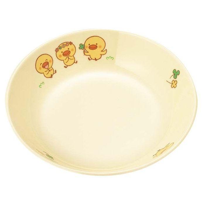国際化工 【20個セット】メラミン 子供食器 ひよこぐみ 深菜皿 D17HI EBM-3952400