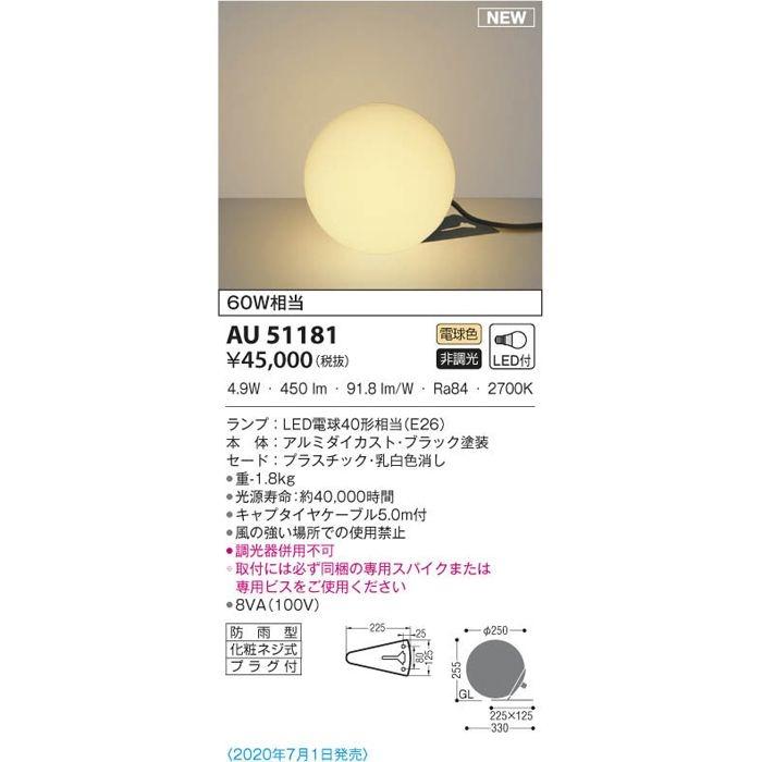 コイズミ LED防雨演出用照明 AU51181