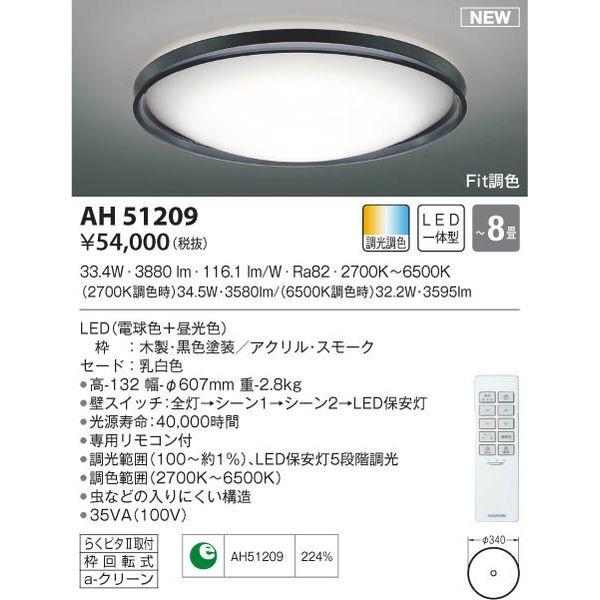 コイズミ LEDシーリング AH51209