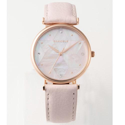 GRANDEUR レディース腕時計 モザイクシェルウォッチ ピンク ESL079W3