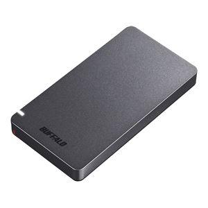 その他 バッファロー USB3.2(Gen2) ポータブルSSD 480GB ブラック SSD-PGM480U3-B ds-2328836
