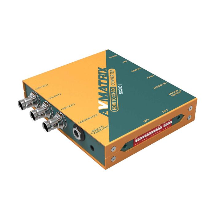 エーディテクノ AVMATRIX HDMI/ビデオ to 3G-SDIスケーリングコンバーター SC2031【納期目安:1週間】