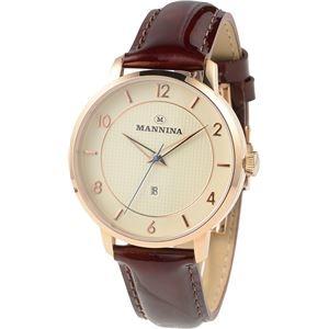 その他 MANNINA(マンニーナ) 腕時計 MNN001-02 メンズ 正規輸入品 ブラウン(文字盤:シルバー) ds-2330995