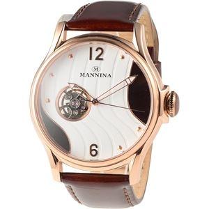 その他 MANNINA(マンニーナ) 腕時計 MNN004-04 メンズ 正規輸入品 ブラウン(文字盤:ホワイト×ダークブラウン) ds-2331004