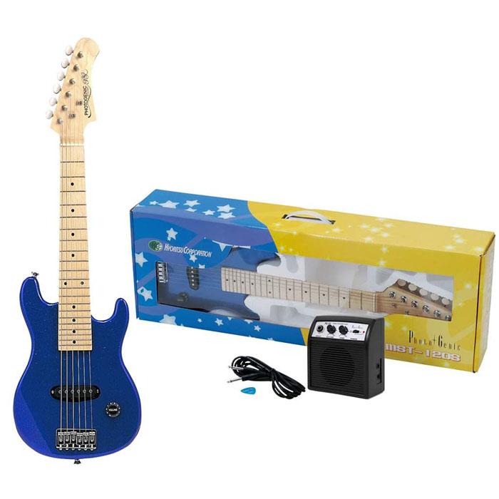 <title>送料無料 PhotoGenic フォトジェニック ミニエレキギターセット MST-120S MBL SET メタリックブルー 4534853133616 ブランド品</title>