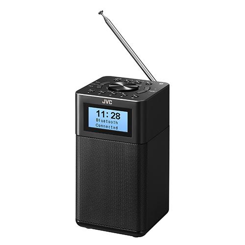 送料無料 ビクター 発売モデル Bluetooth RA-C80BT-B LINE入力搭載の縦型ホームラジオ ワイドFM 注目ブランド