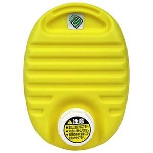 送料無料 mini 湯たんぽ イエロー 最安値に挑戦 容量750cc フリースカバー付き ds-2341145 〔布団 受賞店 屋外観戦〕 耐熱温度:本体約110℃ 携帯可 ベッド