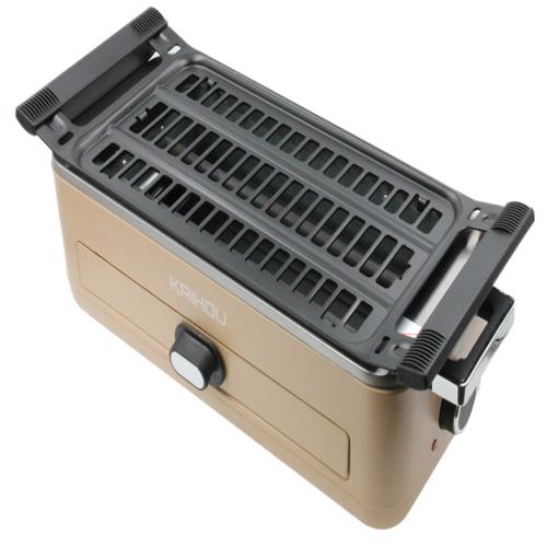 【送料無料】 KAIHOU スモークレス焼肉ロースター ベージュ KH-BBQ100-BE