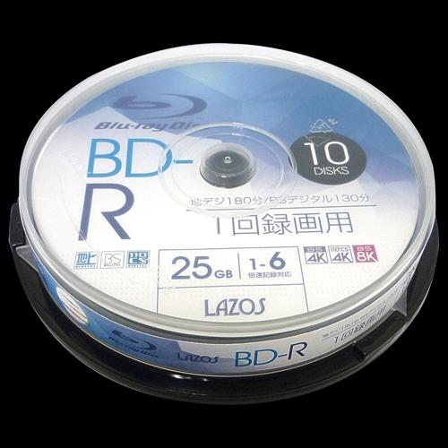【送料無料】 Lazos 400枚セット(10枚X40個) BD-R L-B10PX40