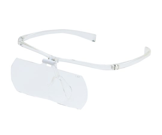 メガネ型拡大鏡(跳ね上げ式)1.6倍&2倍(各1)クリア KTL-209CL