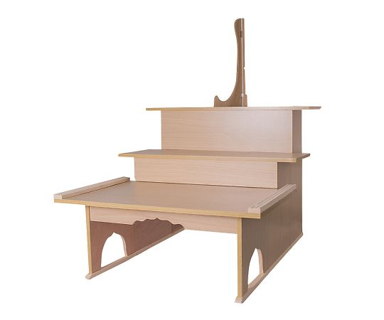枕机(木目プリント) 三段600タイプ